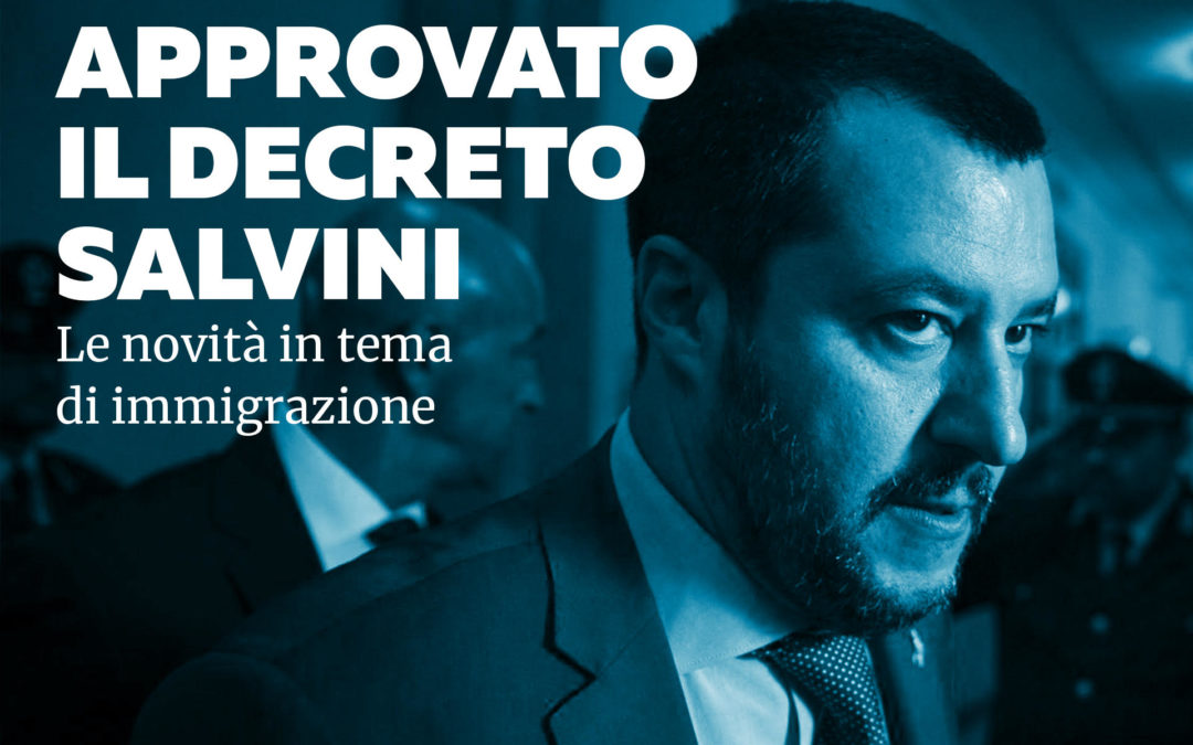 Decreto Sicurezza: ecco cosa prevede il provvedimento voluto da Salvini